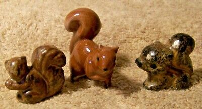 Cute Lot of 3 Small SQUIRREL Figurines