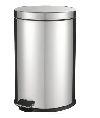 New L.t. Williams Chrome Pedal Bin 12L Cleaning Indoor Use Trash Bins Waste Care