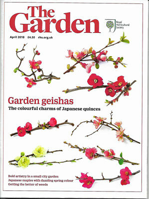 April Issue of The Garden RHS Magazine April 2018 - Gardening - BIG THICK ISSUE