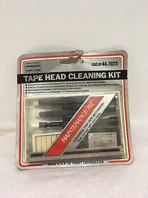 Vintage Tandy Tape Head Cleaning Kit. New Old Stock. Realistic.