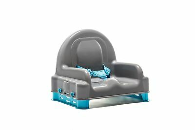 Regalo Right Height Booster Seat Gray Top with Blue Legs
