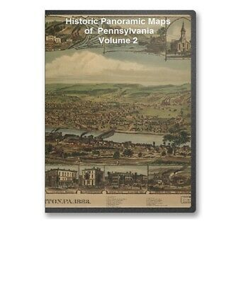 Pennsylvania PA - 105 Vintage Panoramic City Maps CD Philadelphia Etc. V2 - B185