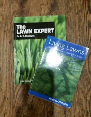 LIVING LAWNS(Andrew Mcindie) and THE LAWN EXPERT(D G Hessayon) gardening books