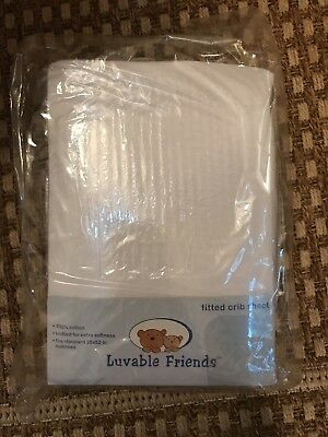Fitted crib sheets 3 Pack White NEW