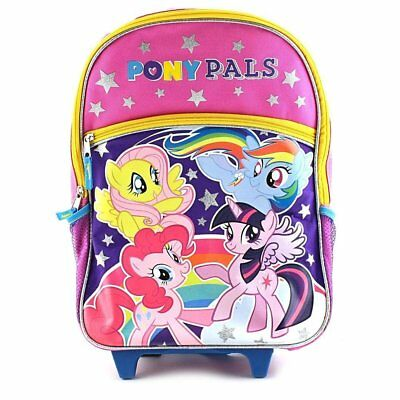 """My Little Pony 16"""" Large Roller Backpack NEW Girl Rolling Kids Luggage NEW!"""