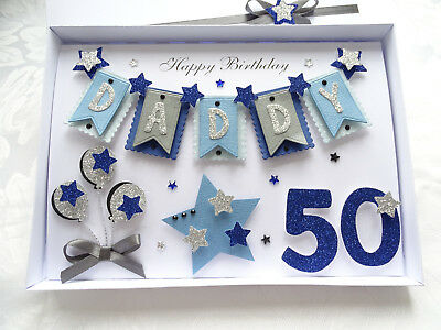 Personalised Handmade Birthday Card Son Dad 3040506070