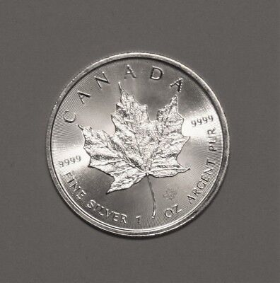 2017 Canadian Maple Leaf 1 Oz. 9999 Fineness Uncirculated Solid Silver Coin