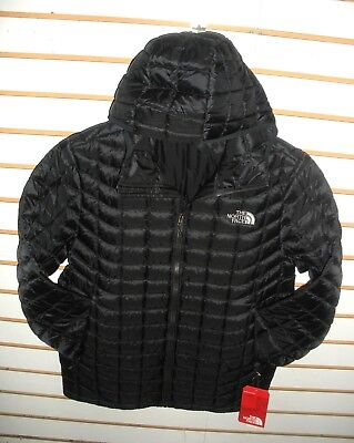The North Face Mens Thermoball Hoody Insulated Jacket- A39N- Tnf Black Matte