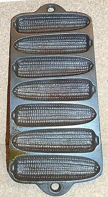 Vintage Cast Iron Corn Stick Corn Bread Pan Made In The Usa