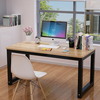 MDF Board Computer Desk Home Office Writing Table WorkStation & Metal Legs