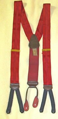 Trafalgar Men's Red Suspenders Braces Button-on Tabs