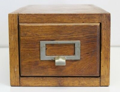 Vintage WOOD U.S. GOVERNMENT OFFICE PRICE STABILIZATION USVA FILE CARD BOX
