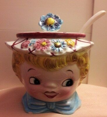 """VINTAGE LEFTON """"Daisy Miss"""" JAM JAR, NO. 323 for MOTHER'S DAY!!!"""