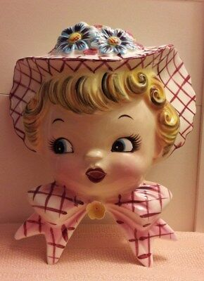 """VINTAGE LEFTON """"Daisy Miss"""" WALL POCKET, NO. PY6767 for MOTHER'S DAY!!!"""