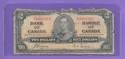 1937 Bank Of Canada Two Dollar Bank Note!! Nice $2.00 Bank Note