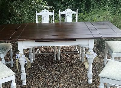 Antique Farmhouse Kitchen/Dining Table and Chairs