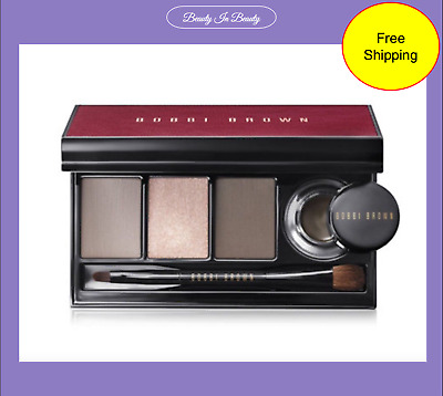 Bobbi Brown Satin & Caviar Shadow & Long Wear Gel Eyeliner Palette Mini Brush