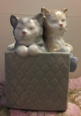 LLADRO NAO Kittens In a Gift Box Figurine for MOTHER'S DAY!!!