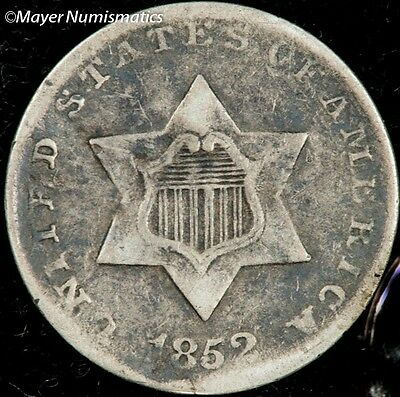 1852 Three Cent Silver 3CS  Very Fine ** VF ** (3666.4203)