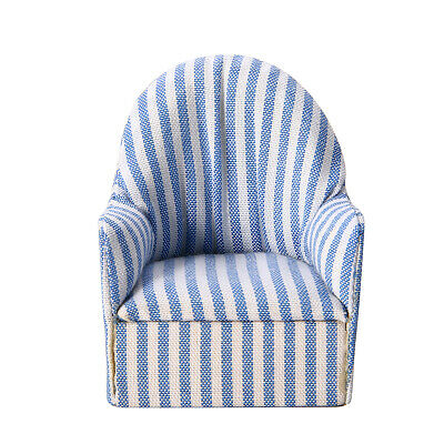 1:12 Dollhouse Miniature Furniture Stripe Sofa Chair For Bed Room Living Room