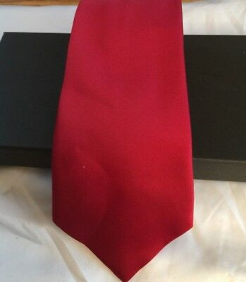 New Solid Red Classic Mens Silk Tie UK Seller Father Son Wedding Gift Suit Shirt