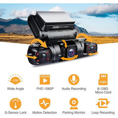 4K hidden Wifi HD Car DVR Video Camera Dash Cam dual lens Vehicle Cam Recorder