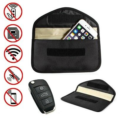 Black Car Key Keyless Entry Fob Signal Guard Blocker Faraday Bag - LARGE Version