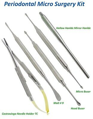 Periodontal Implant Micro Surgery Kit Buser Castroviejo Needle holder Molt 9 set