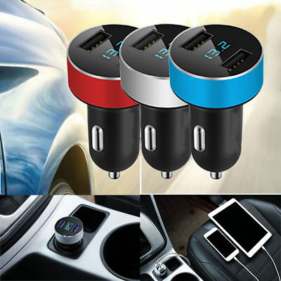 Dual Ports 3.1A USB Car Cigarette Charger Lighter 12V/24V Digital LED Voltmeter$