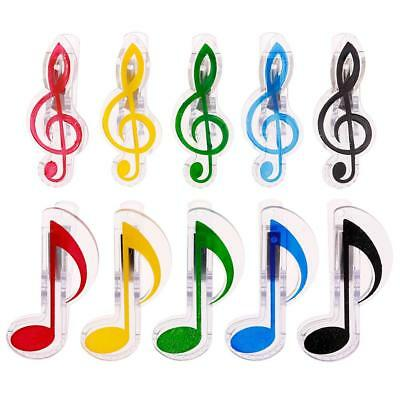 Music Clip Stationery Folder Clip Musical Note Clips Piano Book Page Clips BY