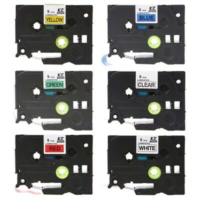 TZe-221 Width 9mm Length 8m Label Tapes For Brother P-touch Label Maker Printer