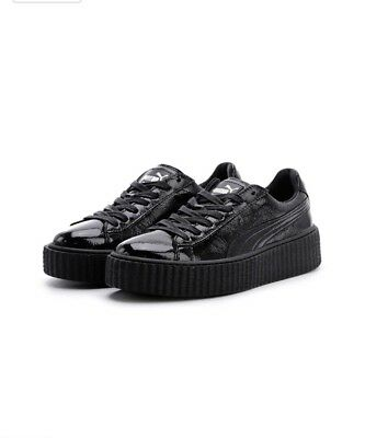 new product b6e66 bf636 PUMA RIHANNA FENTY Women's Creeper Cracked Leather Platform Shoes Sneakers  7.5