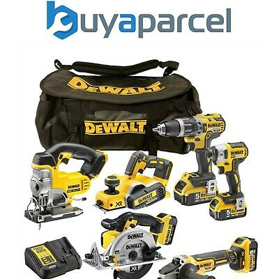 Dewalt XR 18v 6 Piece Brushless Kit + 3 x 5.0Ah Li-Ion Batteries Charger Bag
