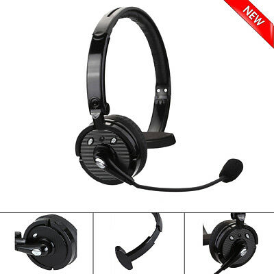 Wireless Bluetooth Blue Parrot Headset Noise Cancelling Boom Mic Truck Driver
