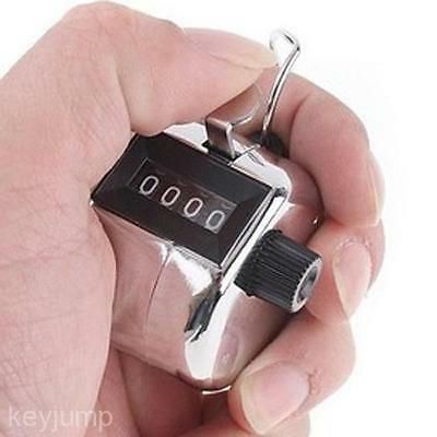 100% Brand New 4 Digit Number Display Clicker Alloy Hoop Golf Tally Mini Counter