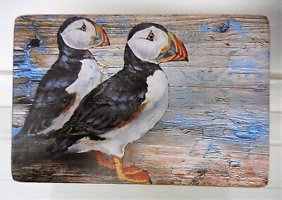 Nautical Puffin Sustainable Wooden Trinket Jewellery accessory Box 15 x 10 cm