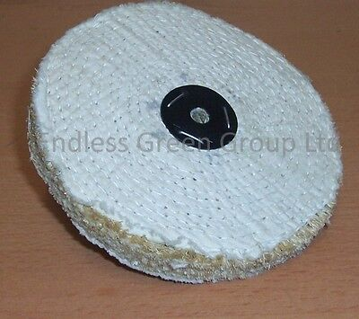SISAL Buffing Wheel 200mm x 1 Section - Coarse grade for cleaning metal - S200/1