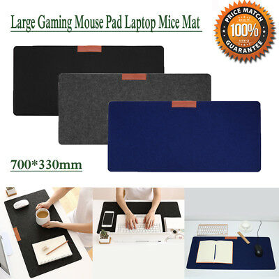 Large Gaming Mouse Pad Office Desk Laptop Computer PC Mice Mat Cushion 700*330mm