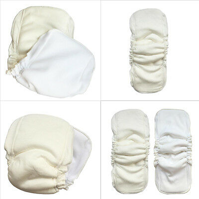 5 Layers Natural bamboo cotton waterproof diaper insert Reusable baby nappies DS