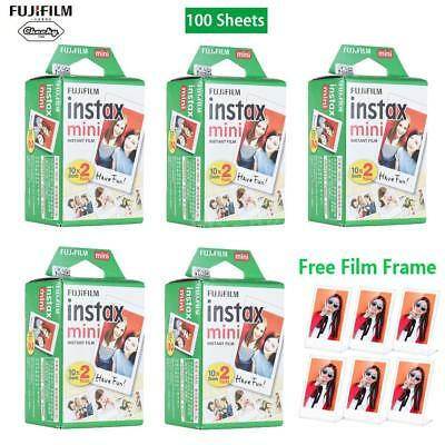 100Pcs Fujifilm Instax Mini Film Pellicola per Fuji Instax Mini 7s/8/25/90/9 IT