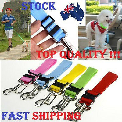 Adjustable Car Vehicle Dog Safety Seat Belt Harness Leashes For Pets Cat Puppy