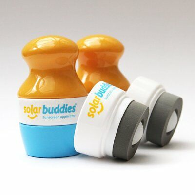 2 x Solar Buddies Sun Lotion Applicator & Replacement Heads Mess Free Sunscreen