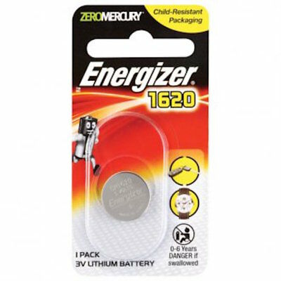 Energizer Coin Cell Battery - 3v Lithium Batteries - CR1620- FREE POST