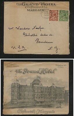 Great  Britain  nice Grand  Hotel  ad cover  1922         MS0114