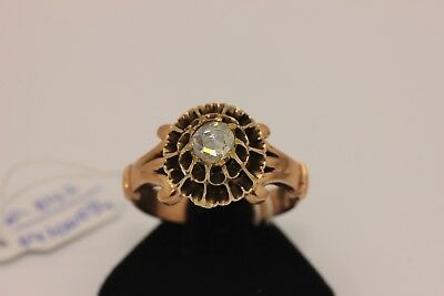 Antique Gold Perfect Ottoman Islamic Diamond Decorated Amazing Ring