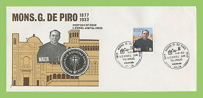 Malta 1983 Giuseppe De Piro issue on First Day Cover, Birkirkara