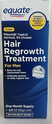 Equate Foam Hair Regrowth Treatment for MEN Minoxidil Topical Aerosal Exp:06/18