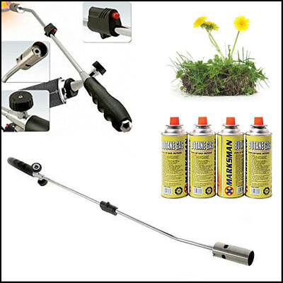 New Weed Wand Blowtorch Burner Killer Garden Torch Blaster + Butane Gas Weeds