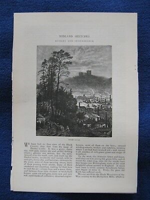 Black Country Midland Sketches Dudley & Stourbridge Castle Iron & Glassworks Etc