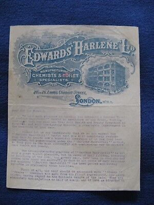 Edwards Harlene Ltd Chemst Lamb's Conduit Street London Hair Drill Vintage Paper